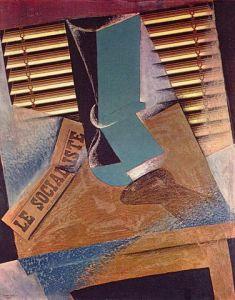 Bodegón con persiana, 1914, pintura de Juan Gris.