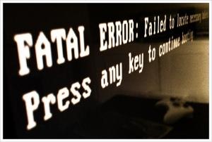 Fatal error. Fotografía de Truman Hughes.