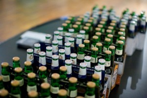Cajas de cervezas.